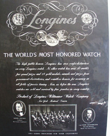 Longines Highest Public Honors watch 1946 Ad