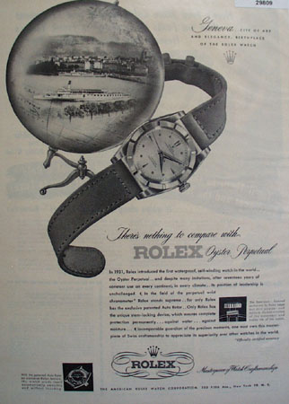 Rolex Watch Birthplace 1948 Ad