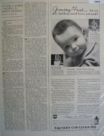 Squibbs Cod Liver Oil 1937 Ad