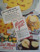 Del Monte Flavor First Fruits 1945 Ad