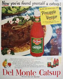 Del Monte Catsup Pineapple Vinegar 1951 Ad