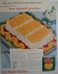 Del Monte Tree ripened Peaches 1954 Ad