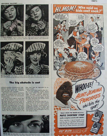 Aunt Jemima Pancakes Hits the Spot 1945 Ad