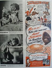 Aunt Jemima Pancakes Mom Scores Again 1945 Ad