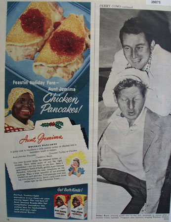 Aunt Jemima Chicken Pancakes 1949 Ad