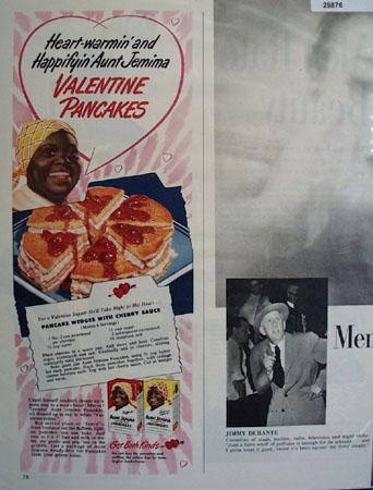 Aunt Jemima Valentine Pancakes 1950 Ad