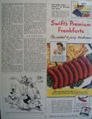 Swifts Premium Frankfurts 1944 Ad