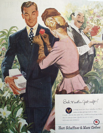 Hart Schaffner And Marx Another Great Outfit Ad 1946