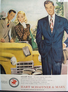 Hart Schaffner And Marx Smooth Lines Ad 1947