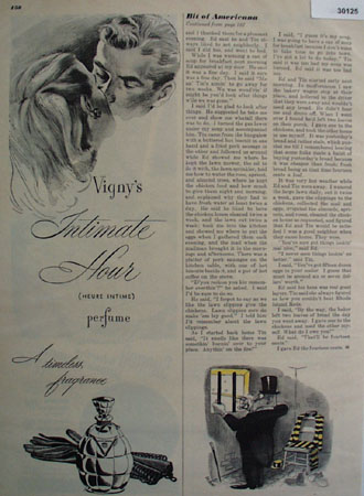 Vigneys Intimate Hour Perfume Ad 1947