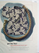 Bold Look Beach Coat Yo Ho Ho Ad 1948