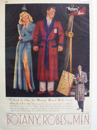 Botany Robe He Like The Robe Ad 1949