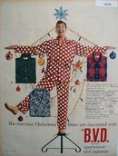 B V D Christmas Ad 1951