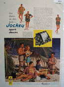 Jockey Sport Shorts Dates In Sun Ad 1948