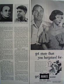 Hanes Syd Caesar and Imogene Cocoa Ad 1952