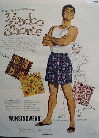 Munsingwear Voodoo Shorts Ad 1951