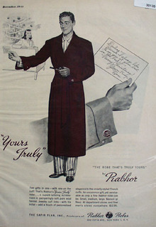 Rabhor Robes Christmas Ad 1948