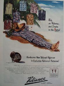 Reliance Sportswear Siesta Ad 1947