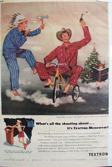 Textron Menswear Christmas Ad 1949
