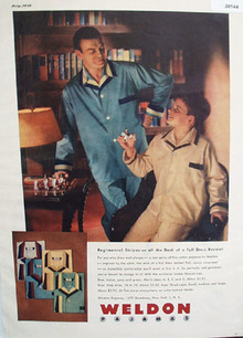 Weldon Pajamas Father And Son Ad 1948