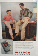 Weldon Pajamas Father Son Slack Suit Ad 1948
