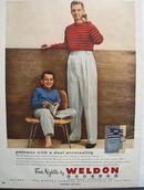 Weldon Pajamas Dual Personality Ad 1949