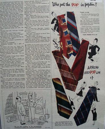 Arrow Tie Aropoplin Ad 1945