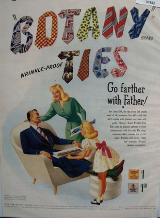 Botany Ties Fathers Day Ad 1948