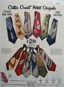 Cutter Cravat Easter Ad 1953