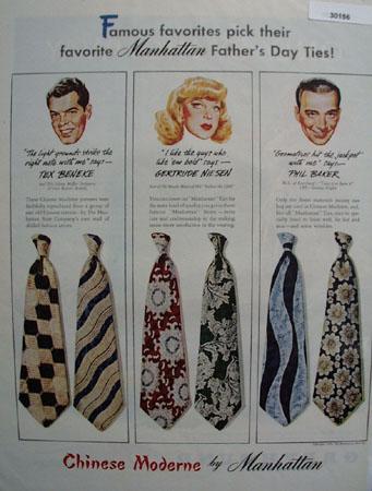Manhattan Ties and Tex Beneke Ad 1946