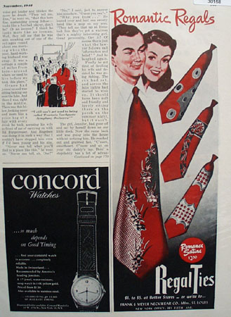 Regal Ties Romantic Ad 1948