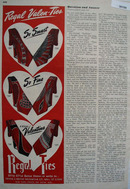 Regal Ties Valenties Ad 1949