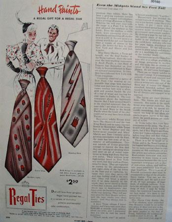 Regal Ties Hand Paints Ad 1951
