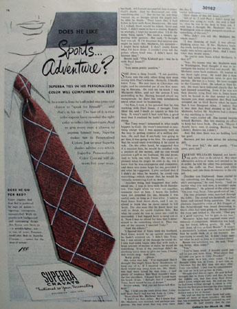 Superba Cravats Sports Adventure Ad 1946