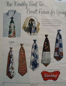 Wembley Ties Fashion For Spring Ad 1950