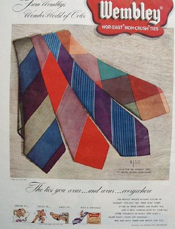 Wembley Ties Wonder World of Color Ad 1948