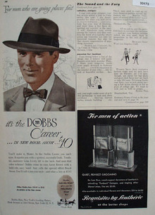 Dobbs Hats Men Going Places Fast Ad 1949