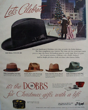 Dobbs Hats Lets Celebrate Ad 1950