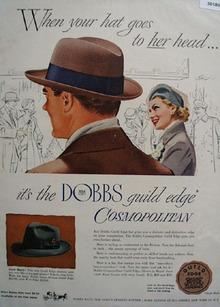 Dobbs Hat Guild Edge Cosmopolitan Ad 1949