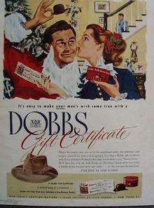 Dobbs Hat Christmas Ad 1947