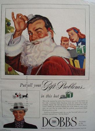 Dobbs Hats Christmas Ad 1948