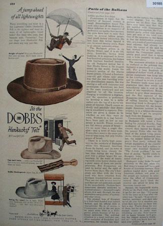 Dobbs Hats Hankachif Felt Hat Ad 1948