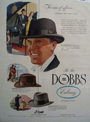 Dobbs Hats For Men of Affairs Ad 1948