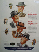 Get Places In The Right Hat Ad 1946