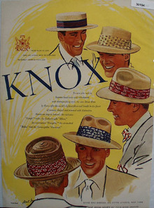 Knox Hats Cool Refreshment Ad 1948