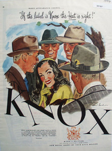 Knox Hat Knox Label Is Right Ad 1946