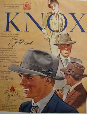 Knox Hats Foxhound Hat 1950