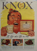 Knox Hat Gift That Tops Them All Ad 1948