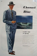 Channel Blue Drawing by Martin Burniston Ad 1948