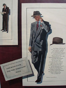 Bold Look Dominant Male Drawing by Martin Burniston Ad 1948